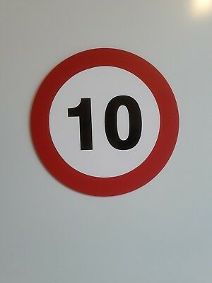 10MPH - Speed Limit Safety Traffic Construction Sign - Rigid PVC Plastic