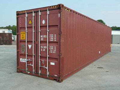 40ft (8,6 high) shipping container in cargo-worthy condition, Long Beach, CA