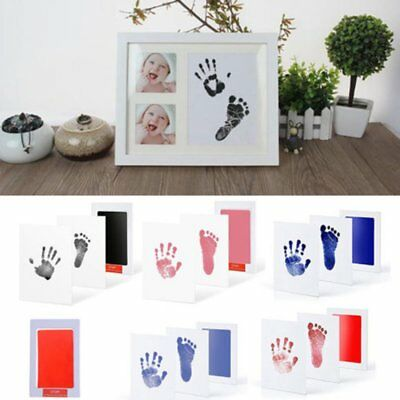 Fashion Photo Frame Kit Newborn Baby Handprint Footprint Clean Touch Ink Pad New
