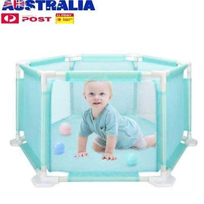 Baby Playpen 6 Panel Playard Kids Safe Activity Center Ocean Ball Pool Fence
