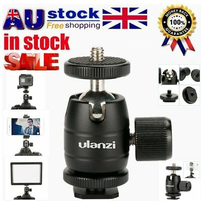 Tripod Ball Head 360 Degree Rotation With 1/4 Inch Thread For Cameras Video UZ