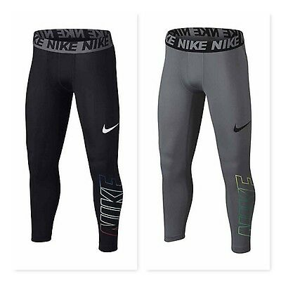 Nike Big Kid Boys Gray or Black Base Layer 3QT Tights MSRP $30 Small, Large, XL
