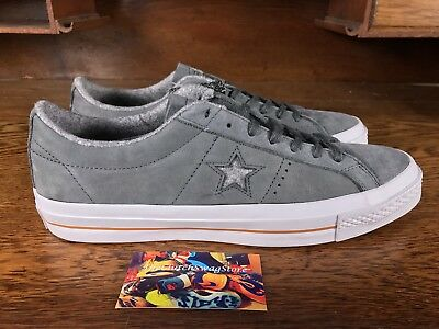 Converse One Star Nubuck Ox Mens Suede Low Top Grey/White 153719C Mens Size 10.5