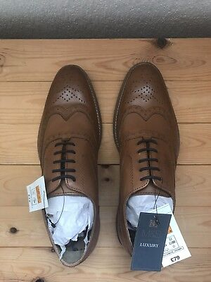 Marks and Spencer Luxury Collection Brogues Tan UK Size 6 RRP £79