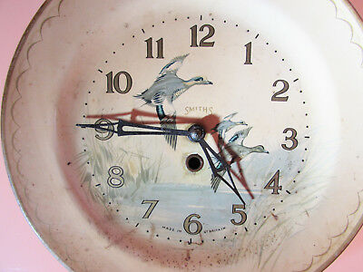 Vintage Smiths Wall Clock in the form of a Duck display plate