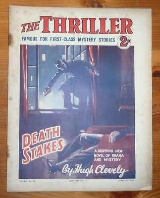THE THRILLER No 266 Vol 10 10TH MAR 1934 DEATH STAKES BY HUGH CLEVELY