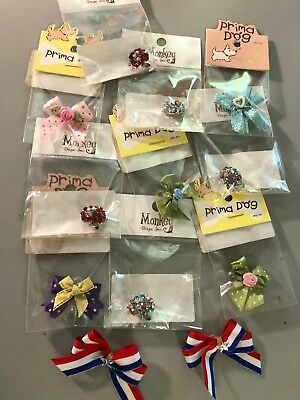 Lot of Dog Hairbows & Barrettes