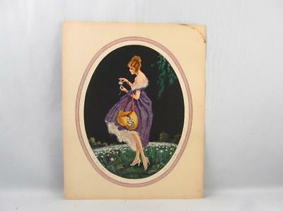 Art Deco Marcel Le Boulte Print Titled ``the Daisies Tell``  8``  By  10``