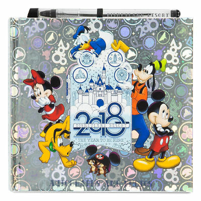 New Disney Parks Disneyland 2018 Pen Autograph Book Mickey Mouse and Friends