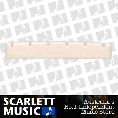 AMS Guitar Nut Slotted Saddle For Acoustic Steel Guitar 6 String 41.5mm x 7.5mm