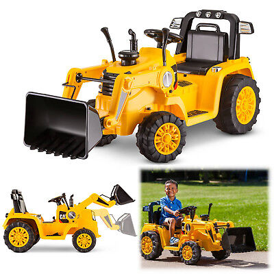 e282ba4a255 Battery Powered Tractor 6V Toddler Bulldozer Excavate Electric Kid Ride On  Toys