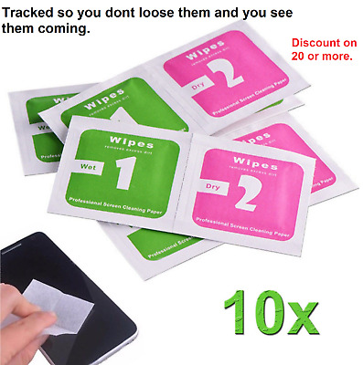 10x Screen Cleaning Wipes For Glasses Camera Lens Computer Tablet Phone Screen