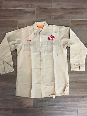 Pearl Beer Work Shirt Original Vintage Doug San Antonio Texas Medium Clean 1980s