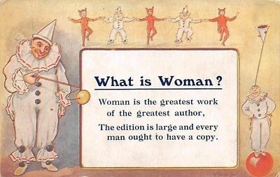 What is Woman? greatest work of greatest author, jester, clown 1920s