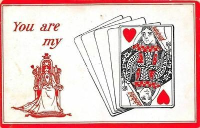 "You are my ""Queen of Hearts"" (Playing Cards) Postcard"