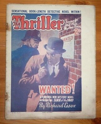 THE THRILLER No 300 Vol 11 3RD NOV 1934 WANTED! BY RICHARD ESSEX