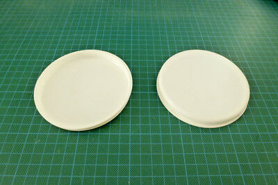 """2x 4"""" 100mm Poster Tube End Caps Postal Mailing Packing Tubes Plastic Caps White"""