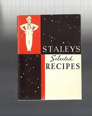 Antique 1930's Art Deco Booklet: STALEY'S Syrup Selected Recipes