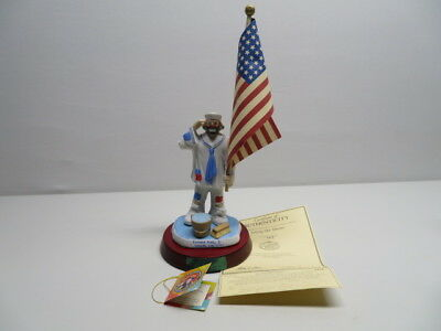 Emmett Kelly Jr./Flambro Autographed 'Saluting Our Veterans' #3379 with COA.