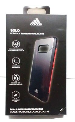 6867dc0a9f4 Adidas Solo Case Dual Layer Protection Case for Samsung Galaxy S8 Black Red
