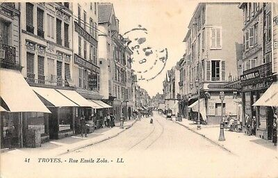 France Troyes - Rue Emile Zola, Railroad CPA