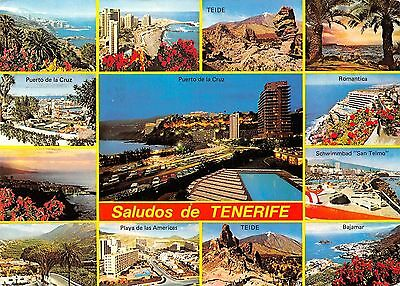 Spain Saludos de Tenerife multiviews Teide Bajamar Teide Romantica Port Harbour