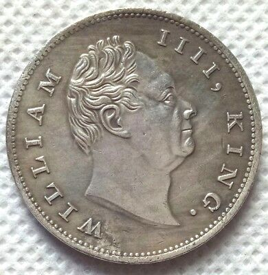 British India William IIII,King. 1835 One Rupee East India Company Silver Coin