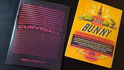 TWO CURVEBALL MAPS GUIDES PHISH sold out dicks pollock