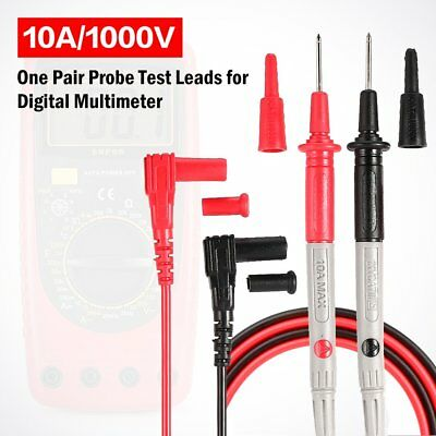 Universal Probe Test Leads Pin Digital Multimeter Needle Tip Tester 10A/1000V WV