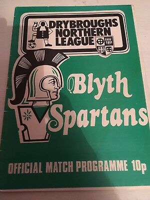 BLYTH SPARTANS v WALSALL  FA CUP FIRST ROUND  1981 - 82