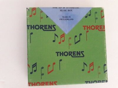 Box of 5 Vintage THORENS Swiss Cylinder Music Box Discs AD 30 Automatic 758 NEW