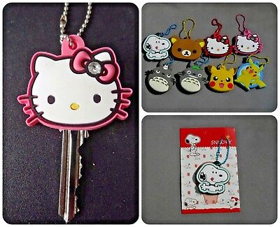 Key cap cover ring keyring bag charm dangler Hello Kitty Totoro Pokemon Snoopy