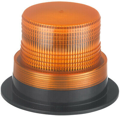 ECE R65 Three Bolt Mount Fork Lift Low Profile Flashing Amber LED Strobe Beacon