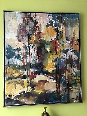 Fantastic Abstract Signed Maris Vintage Oil painting