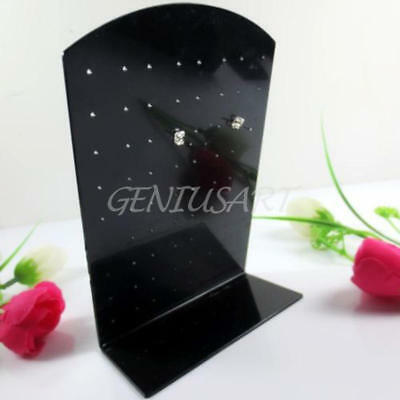 36 Pair 72 Holes Earrings Jewelry Show Black Plastic Display Rack Stand Holder