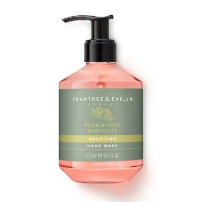 Crabtree & Evelyn Pear and Pink Magnolia 250ml Hand Wash Pump Dispenser FREE P&P