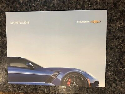 2018 CHEVY CORVETTE 62-page Original Dealer Brochure