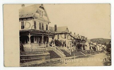 RPPC Hanover Street GLEN ROCK PA York County Pennsylvania Real Photo Postcard