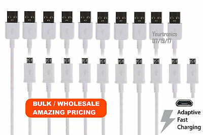 10x OEM Adaptive Fast Charging Micro USB Cable Rapid Charger Cord Micro-B Charge
