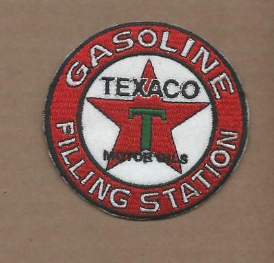 New 3 Inch Texaco Filling Station Iron On Patch Free Shipping