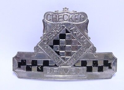 Nice Early Checker Taxi Cab Co. Driver Hat Or Shirt Badge