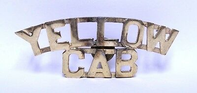 Nice Early Yellow Cab Taxi Co. Driver Hat Or Shirt Badge