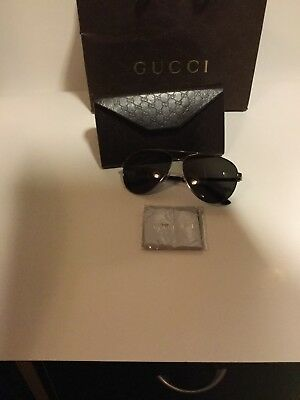 e40d77a4437 GUCCI Stripe WEB 2281 Gunmetal Metal Aviator Grey Sunglasses GG2281S Unisex