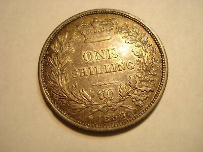 Great  Britain Silver   1 Shilling  1858  Au-Unc