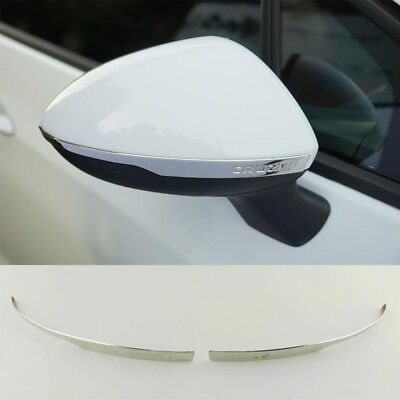Stainless Rearview Mirror Cover Trim Bar For Chevrolet Cruze 2017-2018
