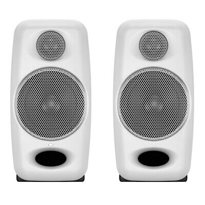 IK Multimedia iLoud White Portable Studio Monitor Speakers w/ Bluetooth (PAIR)
