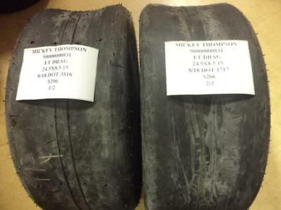 2 New Mickey Thompson Et Drag 24.5 8.0 15 Tires Wo Label 90000000831 Q8