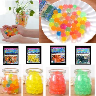 Water Plant Flower Jelly Hydro Gel Beads Balls Crystal Soil Mud Various Colours