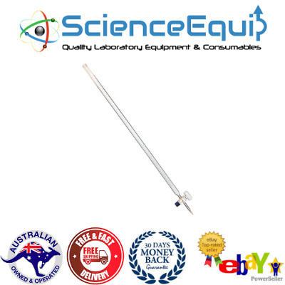 Burettes, BOROSILICATE GLASS, Straight Bore Glass Stopcock, 4 Sizes Burette