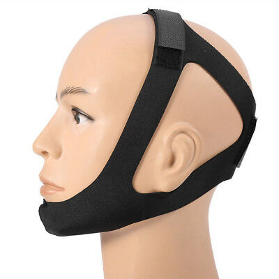 CPAP Chin Strap Belt Restraint Black Support for CPAP Sleep Apnea Anti Snore New